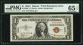 Small Size:World War II Emergency Notes, Fr. 2300* $1 1935A Hawaii Silver Certificate. PMG Gem Uncirculated65 EPQ.. ...