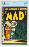 Golden Age (1938-1955):Humor, MAD #1 (EC, 1952) CBCS FN+ 6.5 Cream to off-white pages....