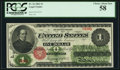 Fr. 16 $1 1862 Legal Tender PCGS Choice About New 58