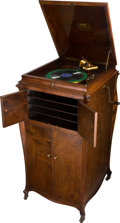 Entertainment Collectibles:Music, Victor Talking Machine Co. Rare Walnut Victrola VV120....
