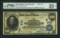 National Bank Notes:Pennsylvania, Philadelphia, PA - $100 1902 Date Back Fr. 689 The Tradesmens NB Ch. # (E)570. ...