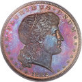 Patterns, 1882 $1 Shield Earring Dollar, Judd-1703, Pollock-1905, R.7, PR65 Red and Brown PCGS. CAC....