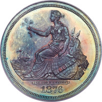 1876 T$1 Commercial Dollar, Judd-1473, Pollock-1624, R.7, PR65 Red and Brown NGC....(PCGS# 71795)