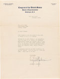 Autographs:U.S. Presidents, Lyndon B. Johnson: Typed Letter Signed as Congressman....