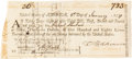 Autographs:Statesmen, Francis Hopkinson the Signer: Signed Financial Document....