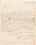 Autographs:Artists, Mrs. Gilbert Stuart (Charlotte): Autograph Letter Signed....