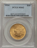 Indian Eagles: , 1914 $10 MS62 PCGS. PCGS Population: (882/710). NGC Census: (797/438). CDN: $800 Whsle. Bid for problem-free NGC/PCGS MS62....