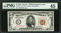 Small Size:World War II Emergency Notes, Fr. 2301* $5 1934 Hawaii Federal Reserve Note. PMG Choice ExtremelyFine 45.. ...