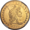 1797 $5 Small Eagle, 15 Stars, BD-1, R.7 -- Reverse Repaired -- NGC Details. AU....(PCGS# 519863)