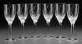Art Glass:Lalique, Sixty Marc Lalique Clear and Frosted Glass Angel ChampagneFlutes. Designed 1948. Engraved Lalique, France. ... (Total:60 Items)