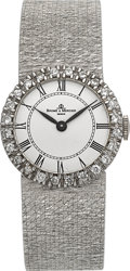 Timepieces:Wristwatch, Baume & Mercier Lady's 18k Diamond Watch. ...