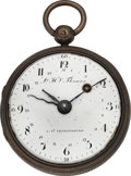 Timepieces:Pocket (pre 1900) , John Henry Thomas St. Petersburg Verge Fusee With Date Indication,circa 1820's. ...