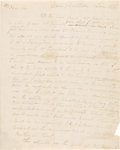 "Autographs:Statesmen, [George Washington]. Lawrence Washington Autograph Letter Signed""Law Washington."" ..."