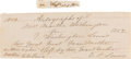 Autographs:U.S. Presidents, Martha Washington Exceedingly Rare Signature Together with FourFamily Monogrammed Handkerchiefs. ... (Total: 5 Items)