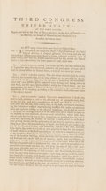 Miscellaneous, George Washington Approved Printed Congressional Act....