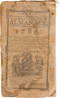 Books:Periodicals, [Isaiah Thomas]. Thomas's Massachusetts, Connecticut, Rhode-Island,New-Hampshire & Vermont Almanack, With an Ephemeris, for t...