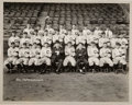 Baseball Collectibles:Photos, 1920 World Champion Cleveland Indians Team Original Photograph byLouis Van Oeyen, PSA/DNA Type 1....