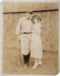 "Baseball Collectibles:Photos, 1927 Babe Ruth ""Babe Comes Home"" Original Photograph, PSA/DNA Type1...."