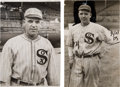Baseball Collectibles:Photos, Circa 1919 Eddie Cicotte Original Photographs Lot of 2, PSA/DNAType 1....
