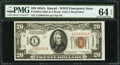 Small Size:World War II Emergency Notes, Fr. 2305 $20 1934A Mule Hawaii Federal Reserve Note. PMG Choice Uncirculated 64 EPQ.. ...