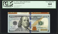 Error Notes:Miscellaneous Errors, Fr. 2187-G $100 2009A Federal Reserve Note. PCGS Very Choice New 64.. ...
