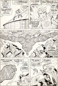 Original Comic Art:Panel Pages, Jack Kirby and Joe Sinnott Fantastic Four #73 Story Page 9Spider-Man and Thor Original Art (Marvel, 1968)....