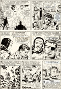 Original Comic Art:Panel Pages, Jack Kirby and Syd Shores Captain America #101 Story Page 20Nick Fury Original Art (Marvel, 1968)....