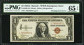 Error Notes:Major Errors, Fr. 2300 $1 1935A Hawaii Silver Certificate. PMG Gem Uncirculated65 EPQ.. ...