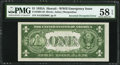 Error Notes:Major Errors, Fr. 2300 $1 1935A Hawaii Silver Certificate. PMG Choice About Unc58 EPQ.. ...