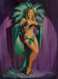 Mainstream Illustration, Joyce Ballantyne (American, 1918-2006). The Blonde Palm. Oilon canvas. 36 x 24 in.. Signed lower right. ...