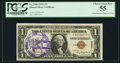 Small Size:World War II Emergency Notes, Fr. 2300 $1 1935A Hawaii Silver Certificate. A-C Block. PCGS Choice About New 55.. ...