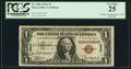"Small Size:World War II Emergency Notes, ""VJ Day Tokyo Bay Sep. 2, 1945 Postmark"" Fr. 2300 $1 1935A Hawaii Silver Certificate. PCGS Very Fine 25.. ..."
