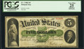 Fr. 3 $5 1861 Demand Note PCGS Apparent Very Fine 25