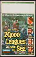 "Movie Posters:Science Fiction, 20,000 Leagues Under the Sea (Buena Vista, 1954). Window Card (14"" X 22""). Science Fiction.. ..."