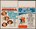 """Movie Posters:Musical, Athena & Other Lot (MGM, 1954). Window Cards (2) (14"""" X 22""""). Musical.. ... (Total: 2 Items)"""