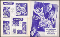 """The Spider Woman Strikes Back (Universal, 1946). Uncut Pressbook (8 Pages, (11.5"""" x 14""""). Horror"""