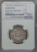 Mexico, Mexico: Charles III 2 Reales 1761 Mo-M AU Details (SurfaceHairlines) NGC,...