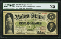 Fr. 62 $5 1862 Legal Tender PMG Very Fine 25