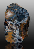 Lapidary Art:Carvings, Pietersite Slab. Outjo, Outjo District. KuneneRegion. Namibia. 12.00 x 7.50x 0.12 inches (...