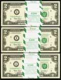 Fr. 1937-I* $2 2003 Federal Reserve Notes. Three Original Packs of 100. Gem Crisp Uncirculated
