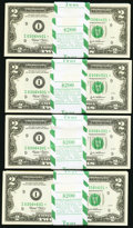Small Size:Federal Reserve Notes, Fr. 1937-I* $2 2003 Federal Reserve Notes. Four Original Consecutive Packs of 100. Gem Crisp Uncirculated.. ... (Total: 400 notes)