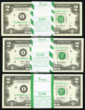 Small Size:Federal Reserve Notes, Fr. 1937-I* $2 2003 Federal Reserve Notes. Three Original Packs of 100. Gem Crisp Uncirculated.. ... (Total: 300 notes)