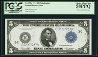 Fr. 855c $5 1914 Federal Reserve Note PCGS Choice About New 58PPQ