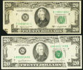 Error Notes:Error Group Lots, $20 FRNs Two Different Error Types Very Fine.. ... (Total: 2 notes)
