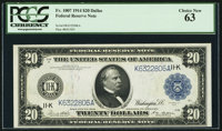 Fr. 1007 $20 1914 Federal Reserve Note PCGS Choice New 63