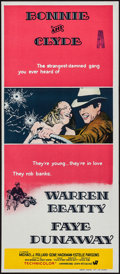 """Movie Posters:Crime, Bonnie and Clyde (Warner Brothers-Seven Arts, 1967). AustralianDaybill (13"""" X 30""""). Crime.. ..."""