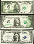 Error Notes:Error Group Lots, Silver Certificate and FRN Errors.. ... (Total: 3 notes)