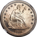 Proof Seated Quarters, 1864 25C PR65 NGC....