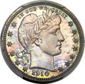 Proof Barber Quarters, 1910 25C PR67 PCGS....