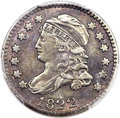 Bust Dimes, 1822 10C JR-1, R.4 -- Questionable Color -- PCGS Genuine. XFDetails....